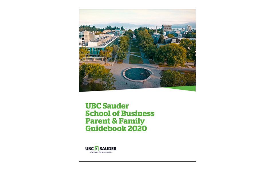 UBC Sauder Parent and Family Guidebook 2020 cover