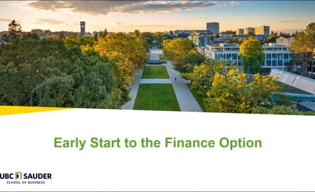 Embedded thumbnail for Early Start to Finance presentation